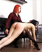Young lady at her Mistress' mercy